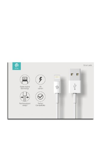 Кабель Devia Smart Lightning для iPhone/iPad/iPod, White Devia