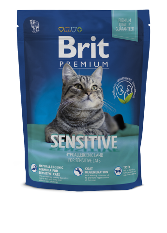 Корм для котов Brit Premium Cat Sensitive, 300 гр. Brit